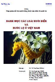 Danh mục các loài nuôi biển và nước lợ ở Việt nam