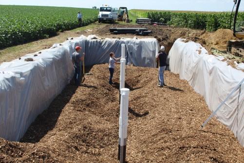 Woodchip bioreactors, phản ứng sinh học gỗ vụn, xử lý nước thải, nước thải thủy sản