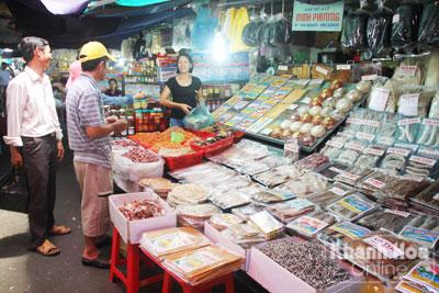 quầy bán hải sản