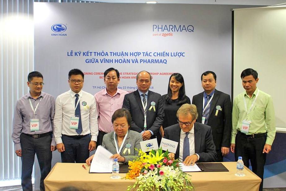 Vĩnh Hoàn bắt tay với Tập đoàn Pharmaq nhân rộng tiêm vắc-xin cho cá tra