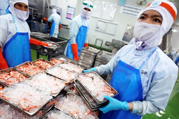 Xuất khẩu tôm Thái Lan sang Mỹ và EU giảm