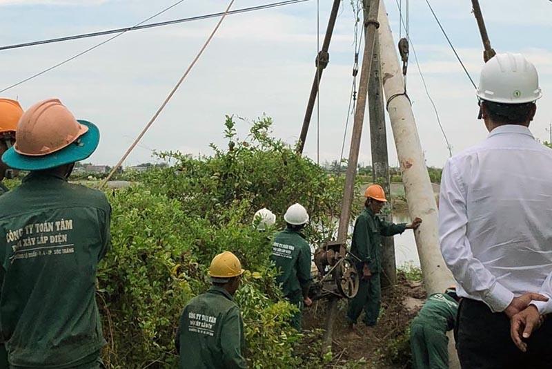 186 hộ nuôi tôm ở Bạc Liêu sẽ có nguồn điện 3 pha