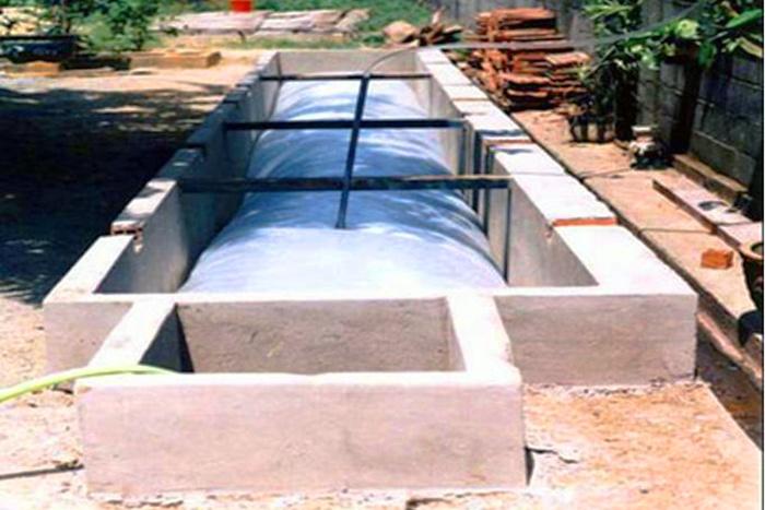 Kỹ thuật lắp đặt túi ủ Biogas hộ gia đình bằng túi nhựa PE