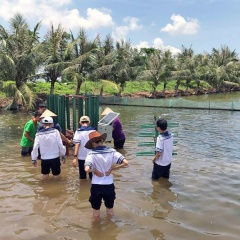 Học sinh sáng tạo máy khuấy, đảo khí cho đầm nuôi thủy sản