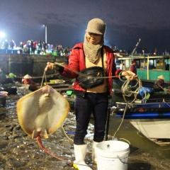 Chợ cá Hòn Gai những ngày giáp Tết