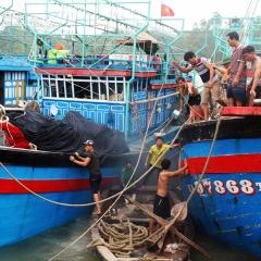 Nghệ An khẩn trương kêu gọi tàu thuyền vào bờ tránh, trú bão số 2