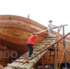 Bình Định: Tạm ngưng đóng mới tàu cá
