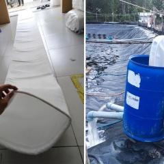 Lọc sạch trứng giáp xác để cấp nước vào ao nuôi