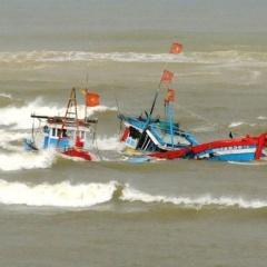 Tàu hàng đâm chìm tàu cá rồi bỏ mặc ngư dân lênh đênh trên biển
