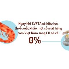 EVFTA: Cam kết về thuế quan đối với ngành thủy sản