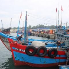 Quảng Ngãi: Cấm tất cả các phương tiện tàu thuyền ra biển