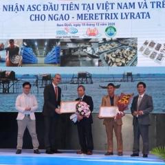 Ngao trắng Nam Định đạt chứng nhận ASC đầu tiên trên thế giới