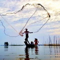 Ảnh đẹp thủy sản: Cuộc sống mưu sinh mùa nước nổi của người miền Tây