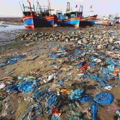 Kéo lưới toàn rác, làm sao để biển còn tôm cá?