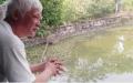 Gặp người đàn ông có thể đếm được từng con cá trong ao